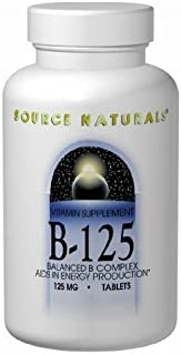 Source Naturals Vitamin B-125 Complex 125mg, Important for The Normal Functioning of The Nervous System, 180 Tablets