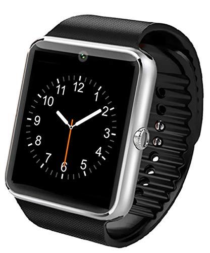 ELEGENCE-Z Smart Watch, waterdichte fitnesstracker IP67, met stappenteller, hartslagfrequentie, sms-oproepcamera, voor Android en iOS, blauw