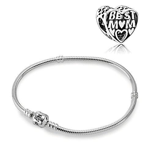 Pandora Geschenkset Starterset Best Mom Charm & Armband 590702HV + 791882 (20)
