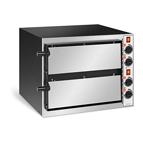 Royal Catering Forno Elettrico Professionale per Pizza Forno per Pizzeria RC-POB2404T (2 camere, 2 x Ø 32 cm)