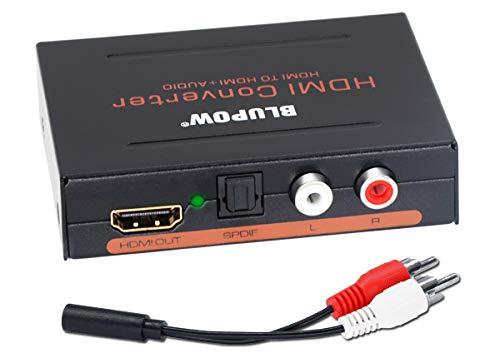 BLUPOW HDMIデジタルオーディオ分離器 hdmi 分離 音声 光デジタル/アナログステレオ出力 HDMIサウンド分離器 hdmi 分配器 hdmi 音声分離器(入力:HDMI →出力:HDMI/SPDIF/RCA) PS3/PS4/Blu-ray