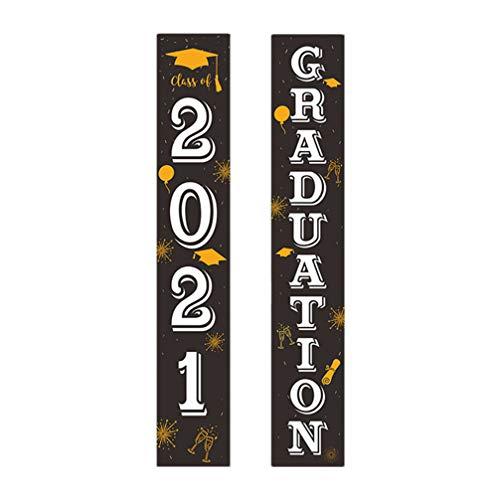 TOYANDONA 1 par de Carteles de Puerta de Graduación de 2021