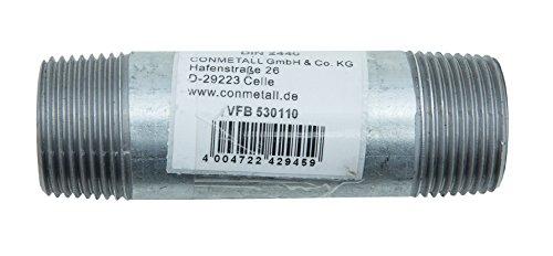 Cornat Verzinkter Rohrnippel, 1 Zoll x 100 mm, VFB530110