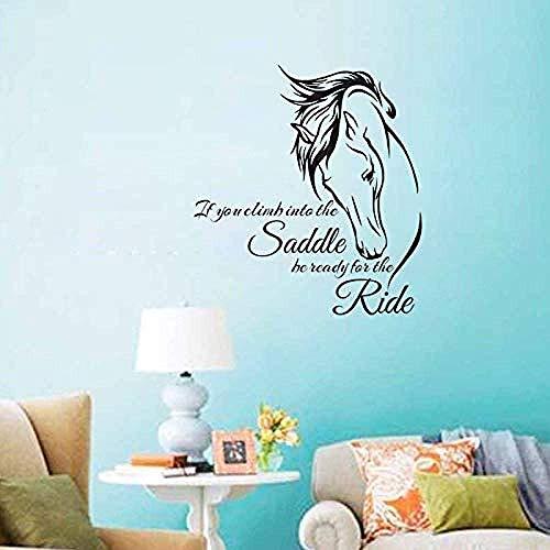 Muurstickers muurschilderingen Decals 59cmx64cm Het zadel Paard Art Zelfklevende Home Ation