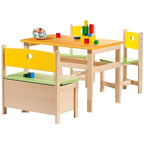 Geuther-Ensemble table et chaises Pepino (4 pièces) - Multicolore