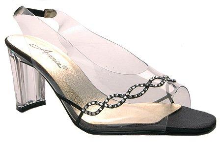Annie Women's Circle Heels,Black Polyurethane,8.5 M