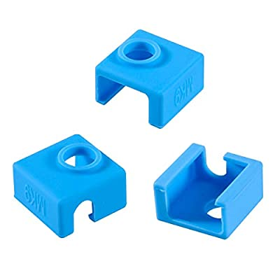 3D Printer Heater Block Silicone Cover MK7 MK8 MK9 Hotend for Ender 3 Creality CR-10 10S S4 S5 ANET A8 Eewolf