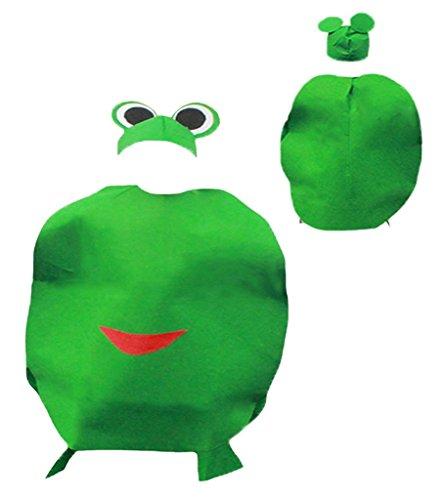 Petitebelle Verduras de Halloween de Frutas de Navidad del Partido del Traje Unisex Ropa de Vestir Un tamaño Rana