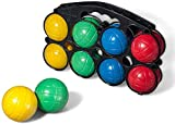 010637 Set de petanca en 4 colores diferentes 8 bolas y en plástico