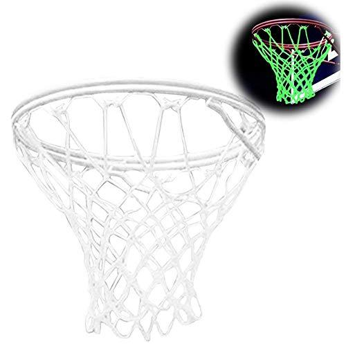 sunnymi Leuchtendes Basketball Netz Nachts Sichtbar Outdoor Sportzubehör (Weiß)