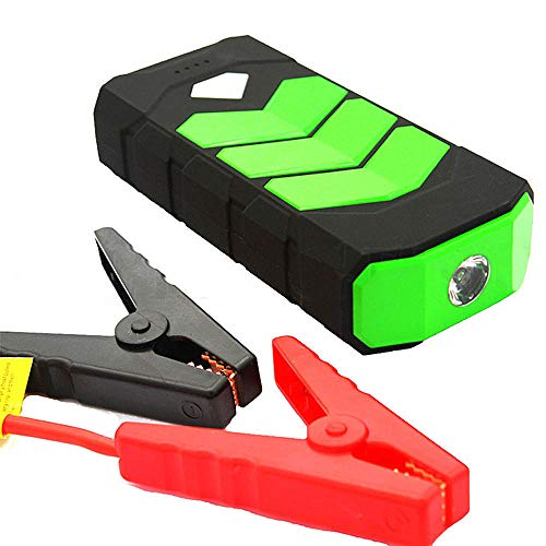 Autobatterie Jump Starter, Super Power 20000mAh Car Jump Starter Power Bank 12V Portable Starting Device Petrol Diesel-Ladegerät für Autobatterie-Booster,Green
