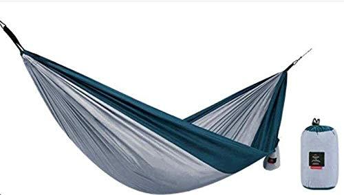 Suge Extérieur Hamac Camping for Le Soutien de L'Aventure de Plage Sac à Dos de randonnée à Double Simple Parachute hamac Ultra-léger 180 kg (Color : Grey, Size : 290 * 180cm)