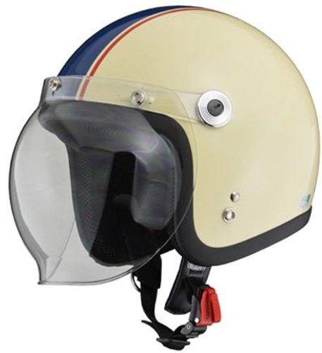 リード工業 バイクヘルメット ジェット BARTON BC-10 アイボリー ネイビー フリー (頭囲 57cm~60cm未満)