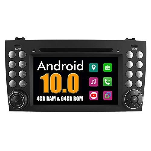 Roverone sistema Android 7 Pollici double DIN in dash GPS navi di navigazione per Mercedes-Benz SLK W171 R171 SLK55 SLK300 SLK350 con autoradio DVD stereo USB SD touch screen