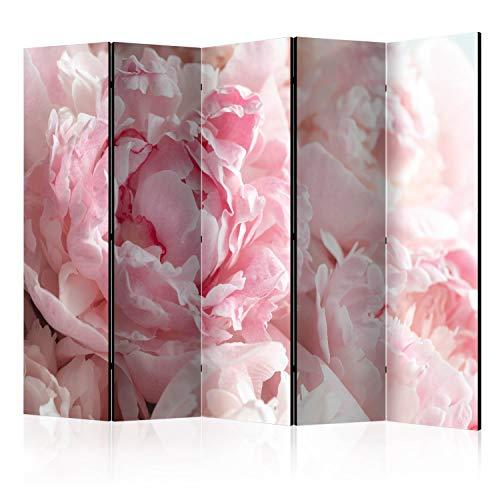 murando Raumteiler Natur Blumen pink rosa Foto Paravent 225x172 cm einseitig auf Vlies-Leinwand Bedruckt Trennwand Spanische Wand...