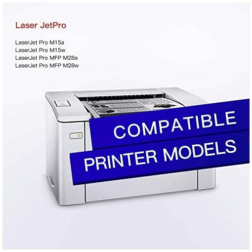GPC Image 44A CF244A Cartuchos de tóner Compatible para HP CF244A 44A con Chip para HP LaserJet Pro M15a M15w MFP M28a… 2