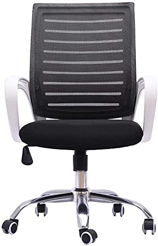 TAIDENG Home Office Chair Ergonomic Office Chair High Back Mesh Desk Chair with Arm Rests Computer Chair Height Adjustable (Color : White)
