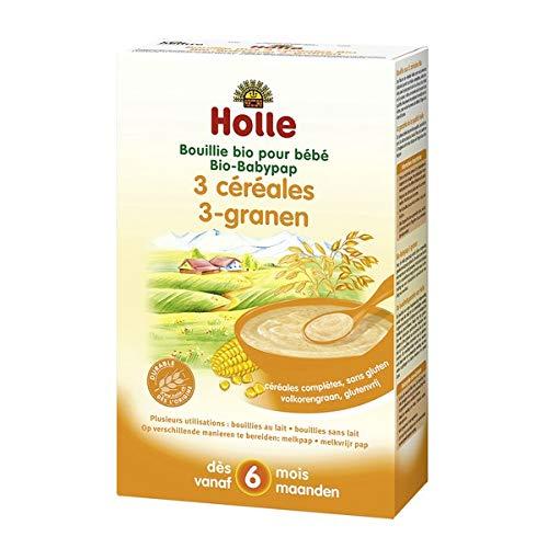 HOLLE - Bouillie Bébé Aux 3 Céréales 250G