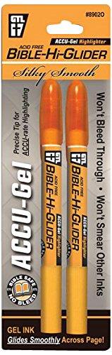 Price comparison product image Bible-Hi-Glider Accu-Gel: Orange