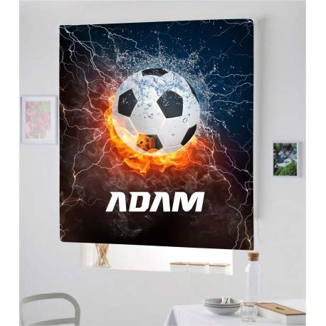 Estor Iroa Digital Futbol 003 con Nombre ¡ESTORES ENROLLABLES TRANSLUCIDO O Screen! (150X170, Tejido Translucido)