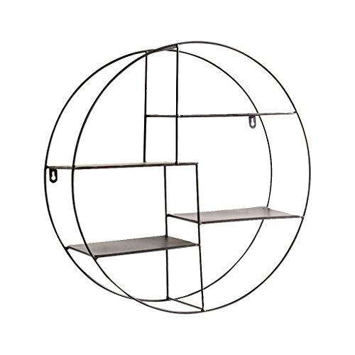 Creatieve metalen wandplank wandgemonteerde opbergrekken, huis/café/restaurant muurdecoratie Zwart