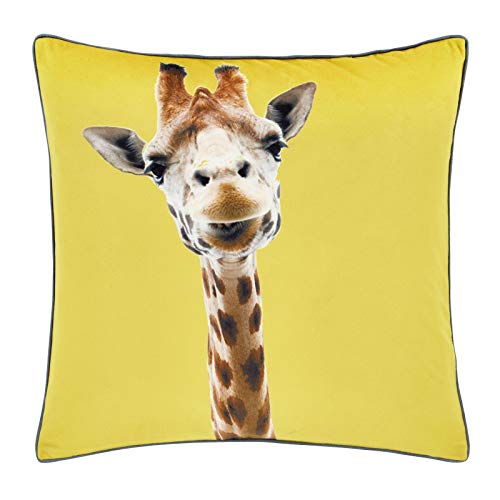 Catherine Lansfield Giraffe Cushion Cover Yellow, 55x55cm