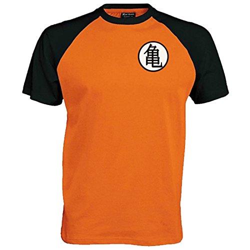 Lifeguardgear Goku - Camiseta de béisbol con símbolo de entrenamiento Naranja Naranja/Negro M