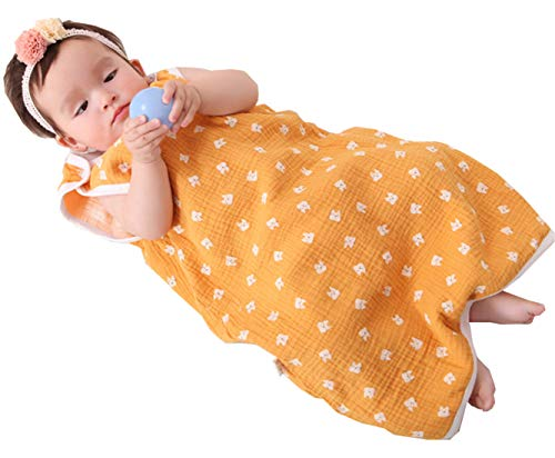 Chilsuessy Sommerschlafsack Baby Schlafsack Sommerschlafsack 0.5 Tog Kinder Schlafanzug Babyschlafsack Ärmellos für Neugeborene 100% Baumwolle, Katze, S/Baby Hoehe 60-70cm