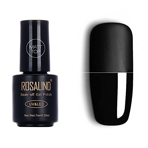Esmalte de uñas de gel mate de 7 ml con luz UV LED y superficie esmerilada