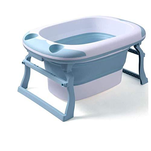 Badkuip, Oversized Inklapbare Plastic Douche Emmer Jongeren Pet Douchebak Kindergarten Het Ziekenhuis Bath Box Volwassen Baby Bad (kleur: Blauw, Maat: 91 * 44 * 53cm)