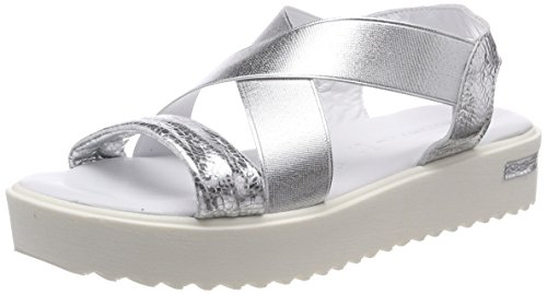 Tamaris Damen 28219 Slingback Sandalen, Silber (Silver), 40 EU