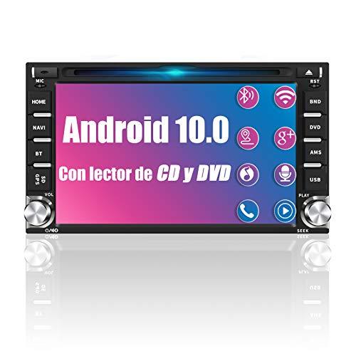 AWESAFE Android 10.0 [2GB+32GB] Radio 2 DIN Universal con 6.2 Pulgadas Pantalla, Autoradio 2 DIN con CD DVD/WiFi/Navegador GPS/Bluetooth/Mandos Volantes/RDS/USB/SD/Subwoofer/Mirror Link
