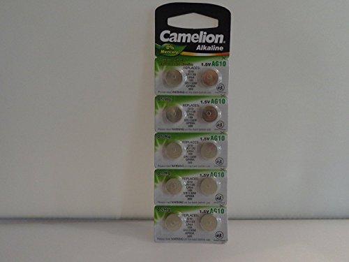 Camelion - Pile alcaline a bottone LR1130, confezione da 10 pezzi, 1,5 V