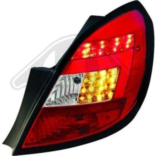 in.pro. 1814795 HD achterlichten Lichtbar Clear Opel Corsa D bouwjaar: vanaf 06 slechts 5-deurs rood - chroom