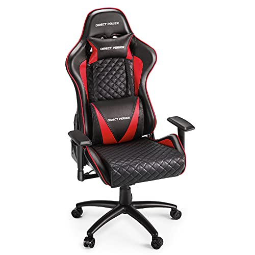 HEAO Heavy Duty Gaming Chairs 500 lbs Big and Tall, Large Size Executive Video Game Chairs Ergonomic High Back Computer Chair, with Headrest and Lumbar Support, Red