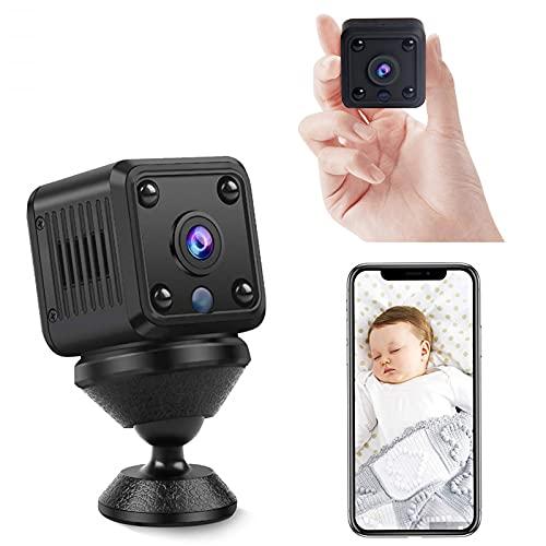 BIIOONES 2021 Mini cámaras espías Ocultas - 1080P HD Cloud WiFi Detección de Movimiento IR Versión Nocturna Niñera Pet Garage Cámara de Seguridad 150 Aparatos domésticos de Gran Angular…