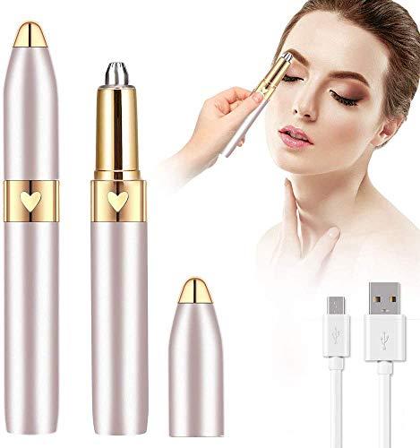 LJ-EXPLOSIVE Depiladora electrica Facial para Mujer,recargable USB,Con Indolora Afeitado Portátil,para Peach Fuzz, Eyebrow, Chin, body