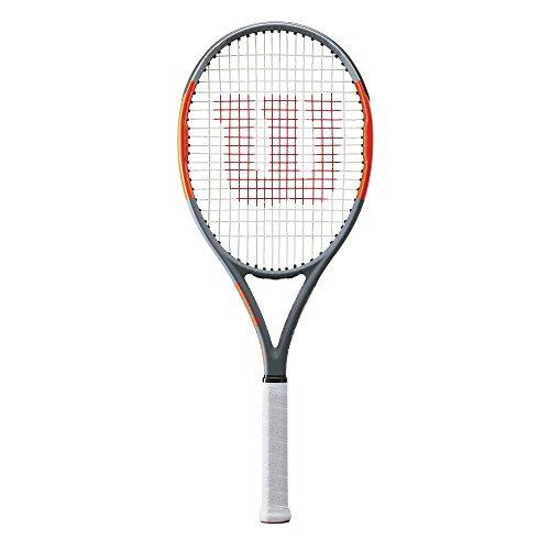 Wilson Damen/Herren-Tennisschläger, Baseliner, Anfänger und Fortgeschrittene, Burn Team 100, Größe 1, grau/orange, WRT73880U1