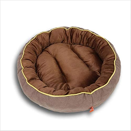 LohugoRemovable And Washable Round Dog Bed Suede Comfortable And Warm Pp Cotton Dog Bed