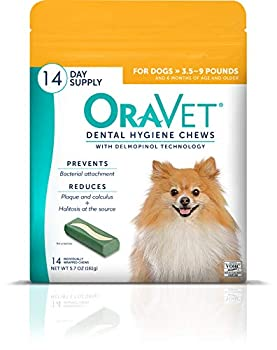 OraVet Merial Dental Hygiene Chew for X-Small Dogs  up to 10 lbs  Dental Treats for Dogs 14 Count