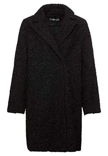 HALLHUBER Mantel aus Fake-Persianer A-Linie schwarz, 40