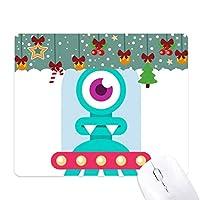 宇宙の外国の怪物エイリアンクリーチャーのサイクロプス ゲーム用スライドゴムのマウスパッドクリスマス