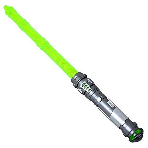 60 cm Laserschwert Lichtschwert feste Klinge Sound wechselbare Lichteffekte grün
