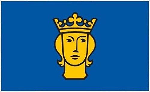 U24 Motorradflagge Stockholm Fahne Flagge 20 x 30 cm