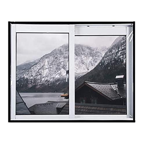 HZWDD Transparent Insulation Film For Window Windproof Shrink Window Kit Keep Warm Reusable, Custom Size Tarpaulin
