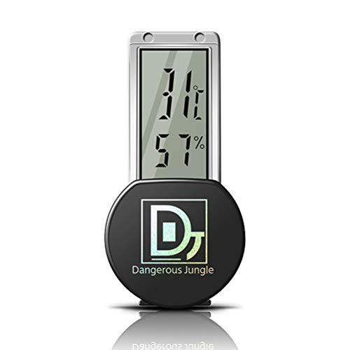 Digital Thermometer und Hygrometer mit Saugnapf für Reptile Aquarium Terrarium Reptile Thermometer digital Wasser IPX5 Wasserdicht 3 x 6,5 cm