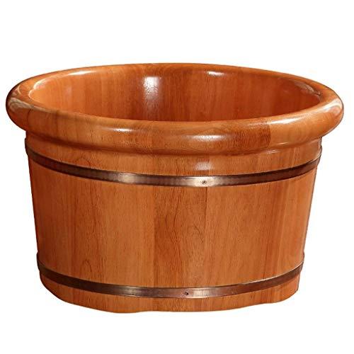 XZJJZ Bañera for pies, baño for pies Barril Madera maciza natural Espesar Lavabo for pies Cubo de madera Bañera for pies Spa Hogar Dormir, mejorar