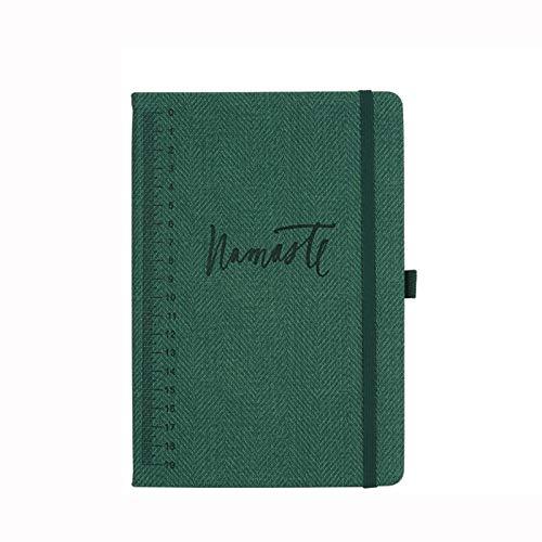 Libreta, A5 Cuaderno, Tapa Dura, Rayado, Regalo Original San Valentín Navidad Cumpleaños Aniversario Boda, Pluma,Verde