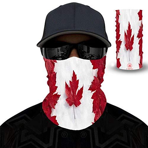 PAWANG Bandana sin Costuras 3D Canadá Japón Francia Italia España Corea del Sur Brasil Bandera Decoración de la Cara de Halloween 50x25 cm