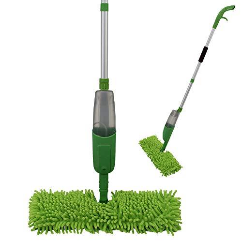 ANSIO Spray Mop, Mopa con Reutilizable de Microfibra Almohadillas para el Hogar, Cocina, Madera Dura, Madera, Cerámica laminados, alicata limpieza-Verde